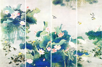 hand painted wallpaper, chinoiserie wallpaepr, chinese wallpaper